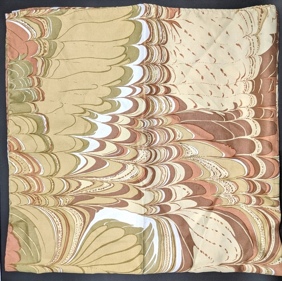 Vintage 70s Abstract Marbled Acetate Scarf